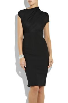 I had no idea Victoria Beckham had such a lovely collection of dresses - heart this oneStretch-jersey draped dress Was $1,990 Now $1,393 .. its too bad this isn't available anymore