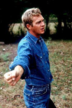 """denimcloset: """" Denim Steve McQueen Icon's of style, wrangler shirt. denimcloset """""""
