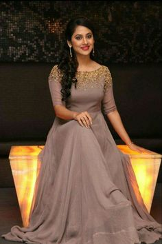 Soft brown gown...cute