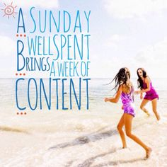 Agree? Definitely! A #Sunday well spent brings a week of content. Set out for a fulfilling #weekend #bonding with family and love ones - #priceless. Enjoy every moment, yay! #madewithstudio