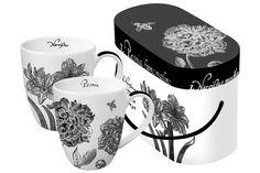 www.gifthaus.co.za B Floral Mug Set Dream Decor, Mugs Set, Tea Time, Porcelain, Tableware, Floral, Porcelain Ceramics, Dinnerware, Tablewares
