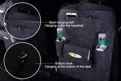 Universal Car Seat Back Storage Bag Multi-Pocket Holder – luckinbag Insulation Materials, Seat Storage, Back Seat, Tissue Boxes, Car Accessories, Car Seats, Pocket, Truck, Bags
