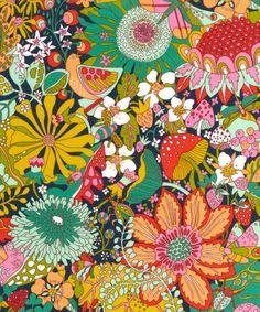 art Liberty Art Fabrics Elodie Bea Tana Lawn C - Textures Patterns, Fabric Patterns, Print Patterns, 60s Patterns, Liberty Art Fabrics, Liberty Print, Surface Pattern Design, Pattern Art, Retro Pattern