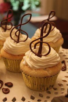 Music celebration cupcakes
