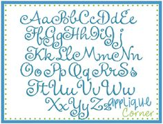 Little Diva Embroidery Font