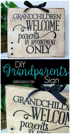 Give the Grandparents a unique gift for Grandparents Day by creating this…