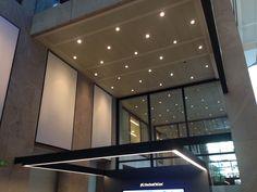 Instalación de Artolis de Barrisol en las oficinas centrales de la Caixa de Santa Cruz de Tenerife.