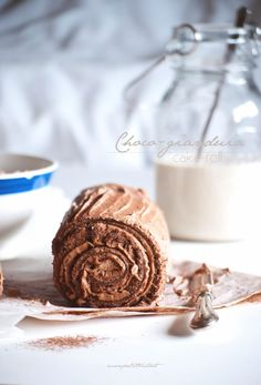 Chocolate Gianduia Cake Roll Recipe
