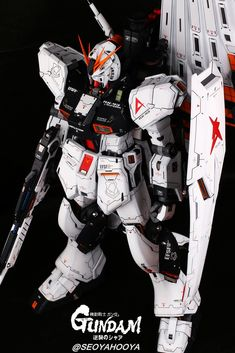 Neo Grade Nu Gundam - Customized Build Modeled by Seoyahooya Gundam Toys, Frame Arms, Plastic Art, Mobile Suit, Grade 1, Transformers, Action Figures, Sci Fi, Scale Models
