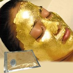 24K GOLD Active Face Mask Powder Brightening Luxury Spa Anti Aging Wrinkle…