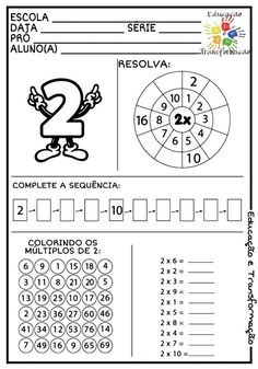 Learning Multiplication, Maths Puzzles, Math Worksheets, Teaching Math, Math School, School Fun, Math Games, Math Activities, Nativity Coloring Pages