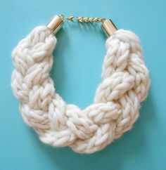 Triple Knit Braid Necklace by whitehaus on Etsy, $130.00