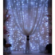decorating with gossamer fabric | DECORATE MY WEDDING Organza LED Curtain