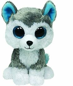 fa0fcb506ce Details about Ty Beanie Boos Slush the Dog (Regular Size - 6 inch) 36006  Red Tag Glitter Eyes