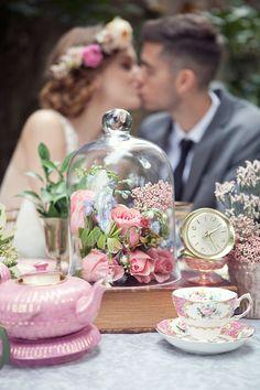 Vintage Garden Wedding Decor - Claudia McDade Photography