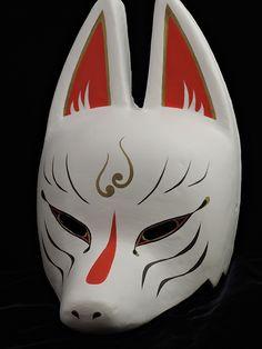 Kitsune Maske, Japanese Fox Mask, Anubis Mask, Japanese Drawings, Fantasy Beasts, Cool Masks, Blue Roses, Character Aesthetic, Faeries
