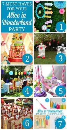 Check out these seven party ideas -- including dessert, cake, decoration, and party supply ideas -- for hosting a fantastic Alice in Wonderland party!