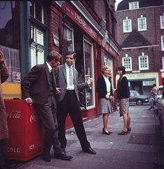 London street fashion, 1960s.