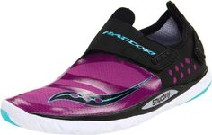 Saucony Womens Hattori Running ShoeBlackPurple7 M US -- Click image to review more details.