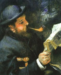 Pierre-Auguste Renoir: Claude Monet beim Zeitunglesen, 1872