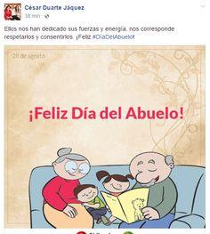 Felicita Duarte a adultos mayores por el Día del Abuelo a través de redes…