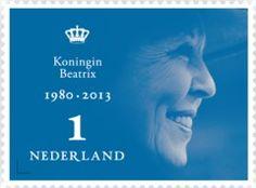 Postzegel Koningin Beatrix 2013