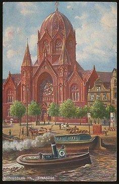 KÖNIGSBERG  Synagoge  Kunst-AK  1915