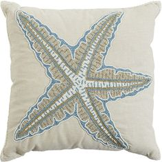 Pier 1 Imports Ivory Coastal Beaded Starfish Pillow ($32) ❤ liked on Polyvore featuring home, home decor, throw pillows, pillow, ivory, beaded accent pillows, handmade home decor, cream colored throw pillows, coastal themed throw pillows and fish throw pillows