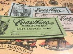 Show someone you care with a Coastline Tattoo gift certificate! Order at www.coastlinetattoo.com #giftcertificate #tattoo #tattooshop #shoplocal #perfectgift #capecod #ptown Provincetown Massachusetts, Alice White, Bring It On, Let It Be, Gift Certificates, Creative Studio, Tattoo Shop, Apparel Design, Messages
