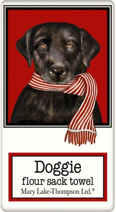 Winter Black Labrador Retriever- Lab Dish Tea Towels – For the Love Of Dogs - Shopping for a Cause www.aloveofdogs.com