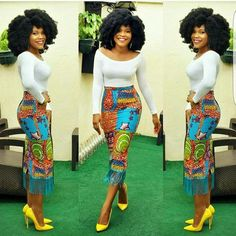African fashion is fast becoming the new cool around the world. Here are Best African Print Dresses and Classic Ankara Styles for Ladies. African Print Skirt, African Print Dresses, African Wear, African Attire, African Fashion Dresses, African Women, African Dress, African Prints, Ankara Fashion