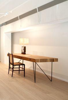 Quiombo desk by Arthur Casas on display at ESPASSO Miami. Brazilian contemporary design.