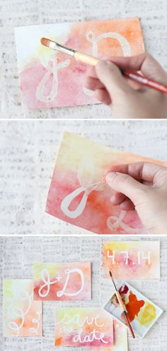 DIY: watercolor postcard messages