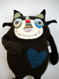 Stuffed Animal Monster Chocolate Cashmere Sweater by sweetpoppycat
