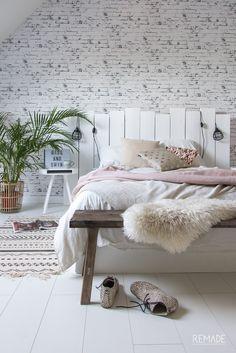 Slaapkamer ideeen | slaapkamer decoratie van KAAT Amsterdam boho scandinavisch