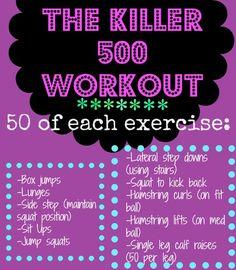 The Killer 500 circuit workout