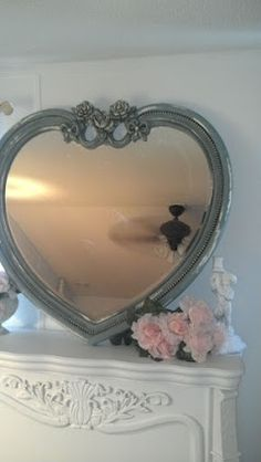 shabby chic mirror ~ love hearts <3