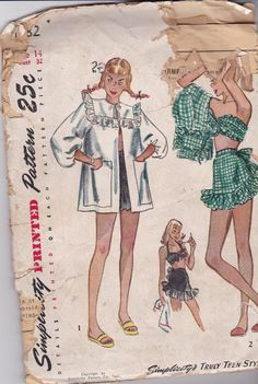 Hey, I found this really awesome Etsy listing at https://www.etsy.com/listing/200322424/simplicity-1982-vintage-sewing-pattern