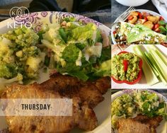 Tips for beginners: Continuing our delicious 5-day meal plan  Day 4  Breakfast: Omelet with avocado, salsa, peppers, onion, and spices Lunch: A handful of nuts and celery sticks with guacamole and salsa Dinner: Chicken stuffed with pesto and cream cheese, along with low-carb vegetables  Comments and feedback below  #KDLKeto #KDLTFB #KDLTipsForBeginners #KDLMealPlan