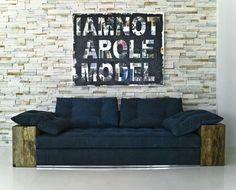 Studio Sofa with Peroba Arms
