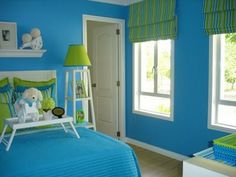 Blue and green combo for Miles' room? Just not so much of it. With some black