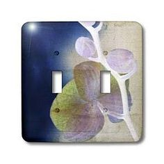 Pastel Orchid Art- Flowers- Zen Art- Nature - Light Switch Covers - double toggle switch