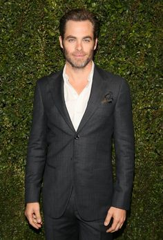 Pin for Later: The Hot Oscars Parties You May Have Missed  Chris Pine left a couple buttons open for the Chanel and Charles Finch dinner at Madeo.