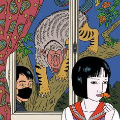 conscientiouspragmatist:  Toshio Saeki (佐伯俊男). Art And Illustration, Japanese Illustration, Illustrations, Ero Guro, Japanese Tattoo Art, Scary Art, Ligne Claire, Japanese Artists, Aesthetic Art