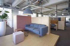 Chill Area Office PON Tilburg, Netherlands by WIES | bureau voor ruimtelijk ontwerp #office #interiordesign #color #febrikfabrics #kvadrat #muuto