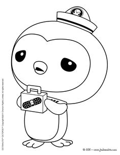 coloring pages to print octonauts | Coloriage Octonauts Medic Peso Penguin Colorier