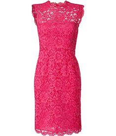 Valentino Hot Pink lace dress 2013