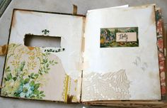 Art journal idea: Cut-out the cover or another page inside the journal for a peek-through look