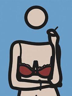 Julian  Opie: Ruth With Cigarette, 4 Pop Art