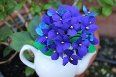 Crepe paper Flowers   Blue Hydrangea by maruthi75 on Etsy, $18.00